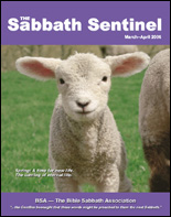 The Sabbath Sentinel Annual Subscription INTERNATIONAL ONLY